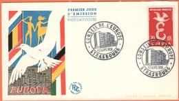 FRANCIA - France - 1958 - Europa Cept - FDC - Strasbourg - Europa-CEPT