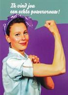 AK Niederlande Powerfrau - Werbepostkarten