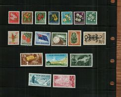 NEW ZEALAND - QEII - 1967 - 18 Stamps - MNH - Unused Stamps
