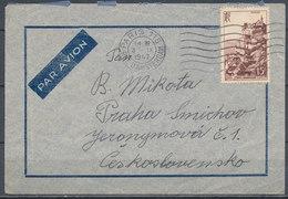 1947 - PARIS - PRAGUE, Par Avion - Postmark Collection (Covers)
