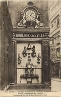 - Ref- B766- Horloge Mecanique Représentant Les Divers Personnages De Guignol - Maison Charvet - Lyon - Rhône -- - Spectacle