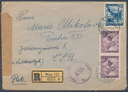 1947 - WIEN - PRAGUE, Reco Cover, Censura - Other