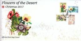 Botswana 2017, FDC Weihnachten, Wüstenblumen, Sukkulenten / Botswana 2017, FDC Christmas, Desert Flowers, Succulents - Sukkulenten
