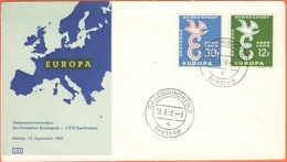 GERMANIA - GERMANY - Deutschland - ALLEMAGNE - SAAR - 1958 - Europa Cept - Saarbrücken - FDC - Europa-CEPT