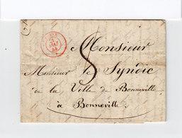 Sur LAC De Genève Pour Bonneville CAD Rouge Genève Mai 1844. Taxe Manuscrite. Au Verso Cachet Linéaire Mai 21. (2354x) - Postmark Collection