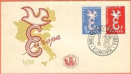 BELGIO - BELGIE - BELGIQUE - 1958 - Europa CEPT - Brussel - FDC - Europa-CEPT