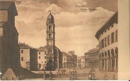 """4138 """"FAENZA-PIAZZA MAGGIORE"""" CARTOLINA POSTALE ORIGINALE SPEDITA 1908 - Faenza"""