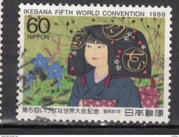 ##4, Japon, Japan, 1986, Sc 1705, Congrès D'art Floral, Ikebana Convention, Costume, Culture, Fleur, Flower - 1926-89 Emperor Hirohito (Showa Era)