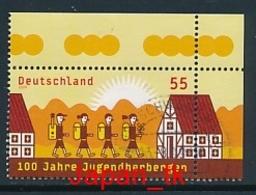 GERMANY Mi. Nr. 2753 100 Jahre Jugendherbergen - Eckrand Oben Rechts - Used - [7] République Fédérale