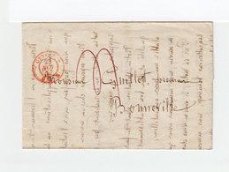 Sur LAC De Genève Pour Bonneville CAD Rouge Genève Nov 1844. Taxe Manuscrite . Au Verso Cachet Linéaire NOVE 24. (2356x) - Postmark Collection