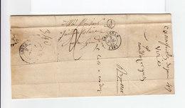 1849. Sur LAC Pour Sauve CAD Type 15 Ledignan Juil. 1849. J Dans Cercle. Taxe Manuscrite. (2357x) - Postmark Collection (Covers)