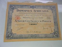 DOMAINES AFRICAINS (1929) Alger , Algérie - Acciones & Títulos
