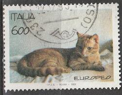 Italia 1993 - Lire 600 - Gatto Europeo - 6. 1946-.. Repubblica