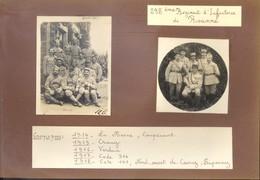 298° REGIMENT D' INFANTERIE De ROANNE - GROUPE DE POILUS EN CAMPAGNE - 1917 - MONTAGE ANCIEN SUR PAGE (21 X32 Cm) - Guerra 1914-18
