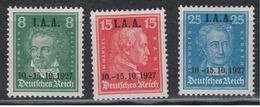 DEUTSCHES REICH 1927 - Michel 407-409 POSTFRISCH MNH** GEPRÜFT SCHLEGEL BPP - Germania