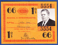 Portugal, PASSE 1966 - CARRIS, Companhia Carris De Ferro De Lisboa - Week-en Maandabonnementen