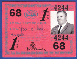 Portugal, PASSE 1968 - CARRIS, Companhia Carris De Ferro De Lisboa - Week-en Maandabonnementen