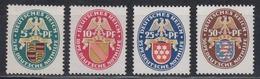 DEUTSCHES REICH 1926 - Michel 398-401 POSTFRISCH MNH** - Germania