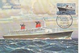 GOOD FRANCE Maxicard 1962 - Ship - 1960-69