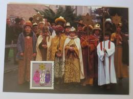 Maximumkarte, Weihnachtsmarke Sternsinger Heilige Drei Könige  1983 Bonn♥(14623) - Cristianesimo