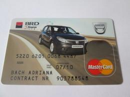 Romanian BRD Finance Master Card-Dacia Sandero - Cartes De Crédit (expiration Min. 10 Ans)