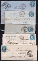 Lot De Lettres Cérès N°60 (Gros Chiffre) - Postmark Collection (Covers)