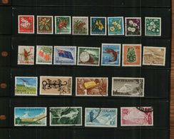 NEW ZEALAND - QEII - 1960 - 23 Stamps - USED - New Zealand