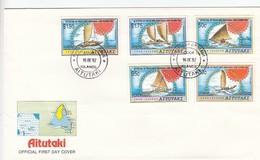 GOOD AITUTAKI FDC 1992 - Ships - Aitutaki