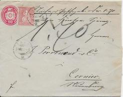 Enveloppe  1870 - Poststempel