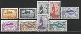 MAROC 1922 - 1942 Poste Aérienne - 9 Timbres Neufs (une Série Complète) ** Cote Maury: 10 Euros - Maroc (1891-1956)