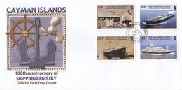 GOOD CAYMAN ISLANDS FDC 2004 - Ships - Cayman Islands