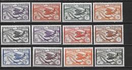 NOUVELLE-CALEDONIE -  Poste Et Poste Aérienne 1938-44 - 12 Timbres ** (1 Série ) - Cote YT : 16 Euros - Nouvelle-Calédonie