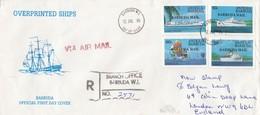 GOOD BARBUDA FDC / REGISTERED Cover To GB 1984 - Ships - Antigua And Barbuda (1981-...)