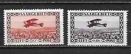SARRE - Poste Aérienne 1928 - YT AE 1 Et 2 ** (MNH) - Cote YT : 31 Euros - Poste Aérienne