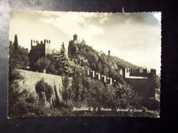 San Marino: Seconda E Terza Torre. Cartolina B/n FG Anni '50 - San Marino