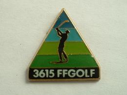 PIN'S 3615 FFGOLF - SIGNE CORNER COINDEROUX - Golf