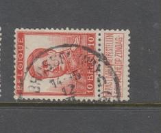 COB 118 Oblitération Centrale BRUXELLES (Nd) D - 1912 Pellens