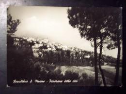 San Marino: Panorama Della Città. Cartolina B/n FG Vg 1952 - San Marino