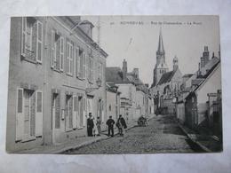 CPA 28 EURE ET LOIR - BONNEVAL : Rue De Chateaudun - La Poste - Bonneval