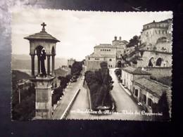 San Marino: Viale Dei Cappuccini. Cartolina B/n FG Vg 1954 - San Marino