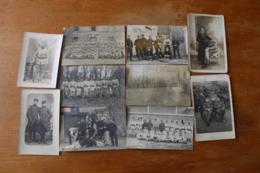 10 Cartes Photos WWI Guerre 1914 1918 Poilus   Lot 1 - War, Military