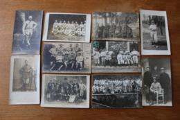 10 Cartes Photos WWI Guerre 1914 1918 Poilus   Lot 2 - War, Military