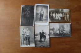 6 Cartes Photos Cavalerie Hussard, Chasseur à Cheval - Guerra, Militari