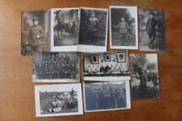 10 Cartes Photos Troupes Allemandes Guerre 1914 1918  WWI - Guerra, Militari