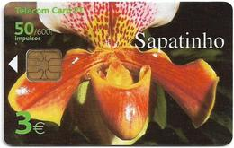Portugal (Madeira) - PT - O Sapatinho, Flower - PT327 - 3€, 01.2002, 30.000ex, Used - Portugal