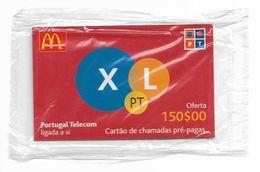 Portugal - PT - McDonald's XL Oferta 150$00 - Remote Mem. 150$PE, NSB - Portugal
