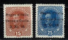 Venezia Giulia 1919 Yv 6*, 8* MH  Cat. Yv € 9,75 ( 2 Scans ) - Occupation 1ère Guerre Mondiale