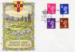 Northern Ireland 1971  -  New Definitive Stamps FDC  -  4v  First Day Cover - Irlanda Del Norte