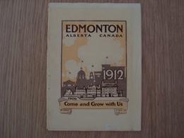 DEPLIANT PHOTOS EDMONTON ALBERTA CANADA 1912 - Edmonton