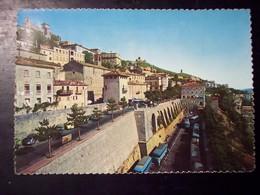 San Marino: Stazione Autocorriere E Panorama. Cartolina Anni '60 (affrancature Commemorative) - San Marino